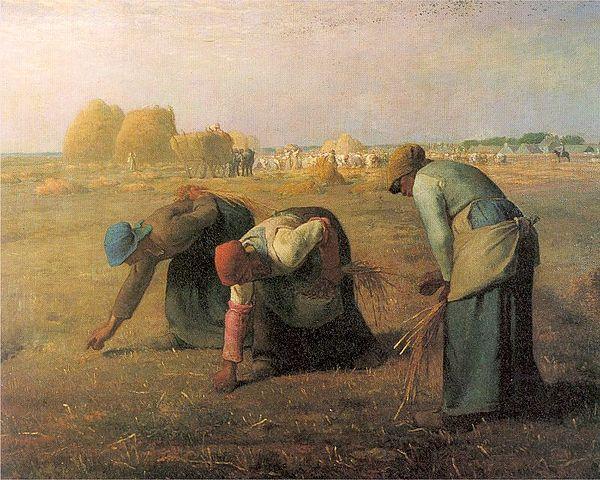 The Gleaners (As respigadoras). Pintura de Jean-François Millet (1857).